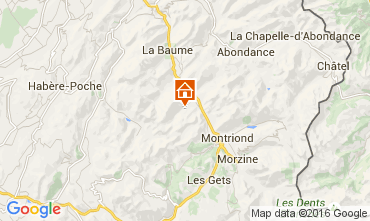 Map Saint Jean d'Aulps- La Grande Terche Chalet 17372