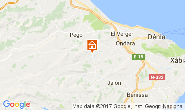 Map Denia Villa 112167