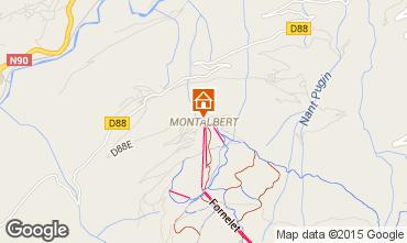 Map La Plagne Chalet 27113