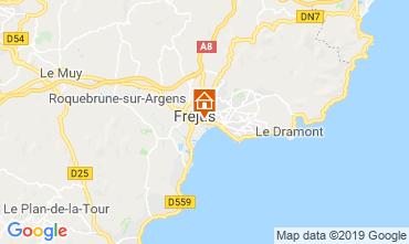 Map Fréjus One-room apartment 119391