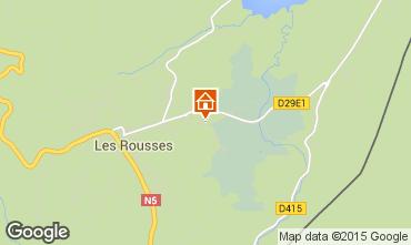 Map Les Rousses Apartment 15199