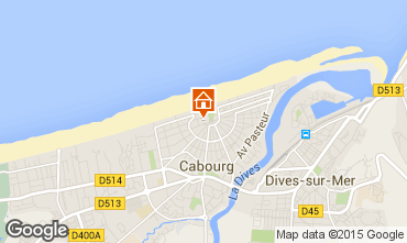 Map Cabourg One-room apartment 10765