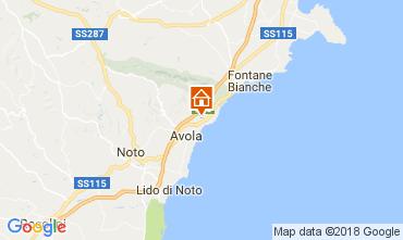 Map Avola Apartment 41447