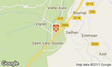 Map Saint Lary Soulan Apartment 16744