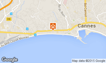 Map Cannes Apartment 44413