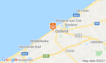 Map Ostend Bed and breakfast 72510