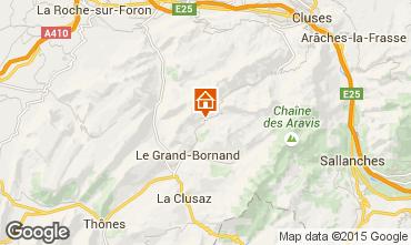 Map Le Grand Bornand Apartment 75054