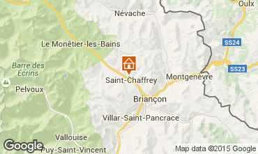 Map Serre Chevalier Vacation rental 75303