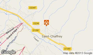 Map Serre Chevalier Vacation rental 75303