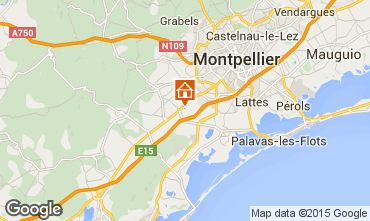 Map Montpellier Villa 93493