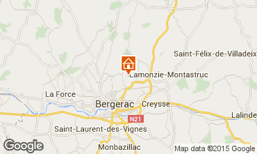 Map Bergerac Vacation rental 97571