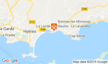 Map La Londe les Maures Apartment 68666