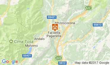Map Andalo - Fai della Paganella Apartment 104639
