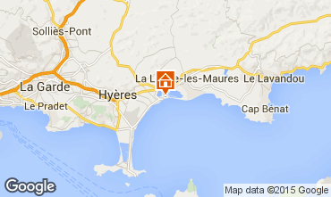 Map Hyères Apartment 5831