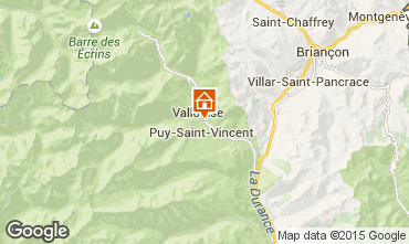 Map Puy Saint Vincent Chalet 94407