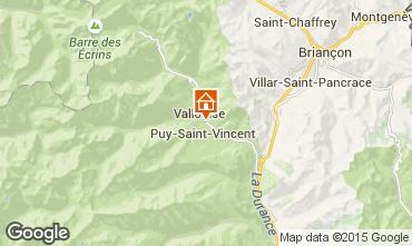 Map Puy Saint Vincent Chalet 94407