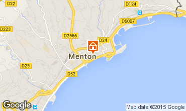 Map Menton Apartment 61473