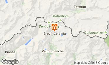 Map Cervinia (Breuil) One-room apartment 71065