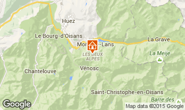 Map Les 2 Alpes One-room apartment 73843