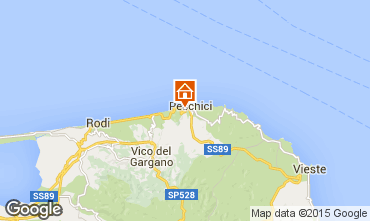 Map Peschici Apartment 77696