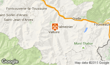Map Valloire Apartment 79625