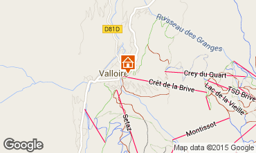 Map Valloire Apartment 79625