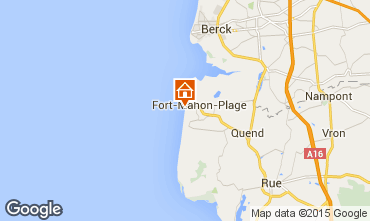 Map Fort Mahon Apartment 10866