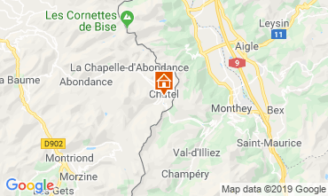 Map Châtel Apartment 117683