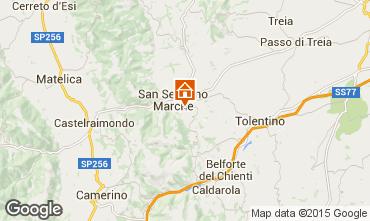 Map San Severino Marche Apartment 72984