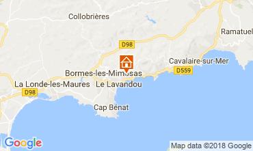 Map Le Lavandou Villa 98753