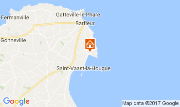 Map Réville Vacation rental 108411