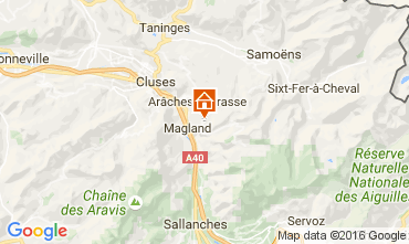 Map Les Carroz d'Araches Apartment 58406