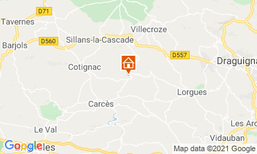 Map Cotignac Villa 98164
