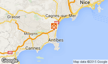 Map Antibes One-room apartment 82540