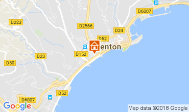 Map Menton Apartment 113300
