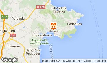 Map Rosas Apartment 76045