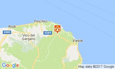 Map Vieste Villa 109613