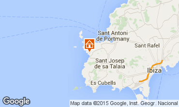 Map Ibiza Apartment 15805