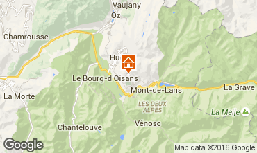Map Auris en Oisans Apartment 28405