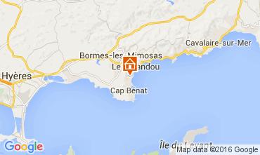 Map Bormes Les Mimosas Apartment 10095