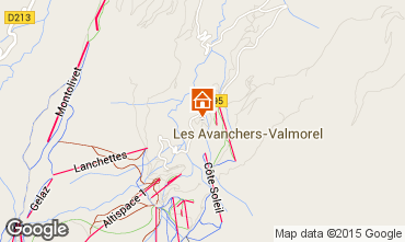 Map Valmorel Vacation rental 73377