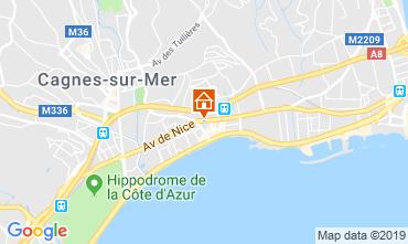 Map Cagnes sur Mer Apartment 119644