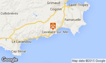Map Cavalaire-sur-Mer Apartment 74506