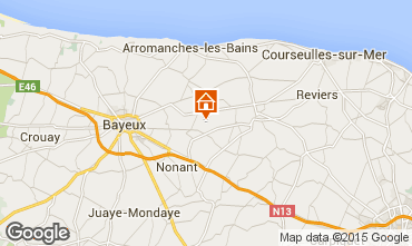 Map Bayeux Vacation rental 78404