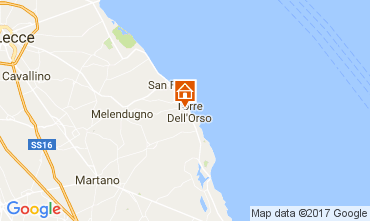 Map Torre dell'Orso Apartment 103652