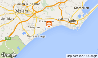 Map Portiragnes House 96400