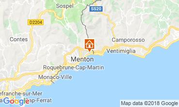 Map Menton One-room apartment 117489