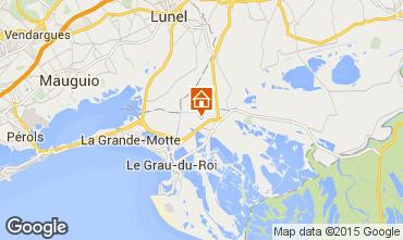 Map Aigues Mortes Vacation rental 72381