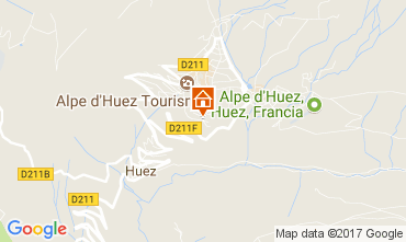 Map Alpe d'Huez One-room apartment 93111