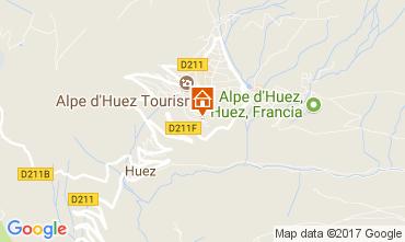 Map Alpe d'Huez One-room apartment 93111